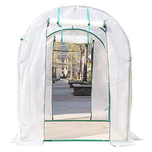 ERRU Invernadero Invernadero Polytunnel para Plantas de Jardín - Casa Caliente de Invierno con Puertas de Entrada con Cremallera, Tienda Resistente Más Grande para Tomate (Size : 250×200×200cm)