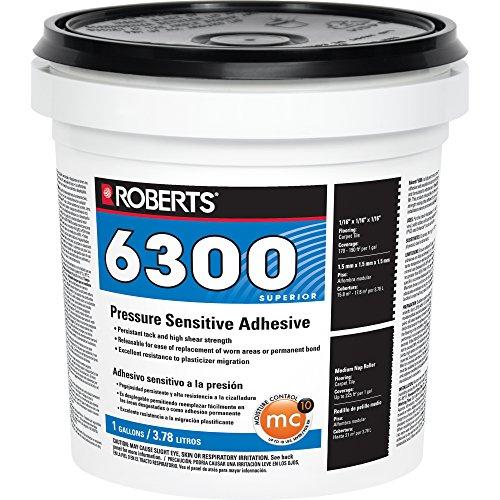 Roberts R6300-1 Pressure Sensitive Adhesive for Carpet and Luxury Vinyl Tile, 1 Gallon