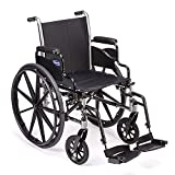 """Invacare - TRSX58FBP / T93HCP Tracer SX5 Wheelchair, With Desk Length Arms and T93HCP Hemi Footrests with Heel Loops, 18"""" Seat Width, 1193458"""