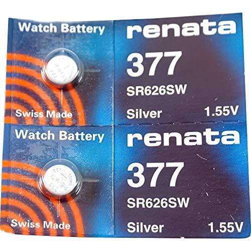 Renata 377óxido de Plata Fabricado en Suiza Pila de botón SR626SW