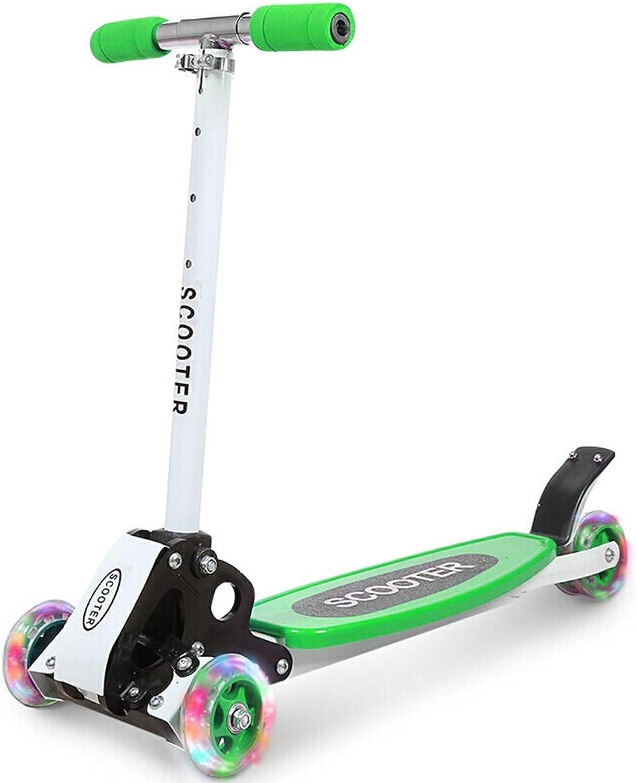 70% de descuento Duan hai rong DHR Scooter for for for Niños de Tres Ruedas Plegable Scooter Giratorio Kick Scooter Flash de Cuatro Ruedas for 3-6-12 años de Edad, patinetes  solo para ti