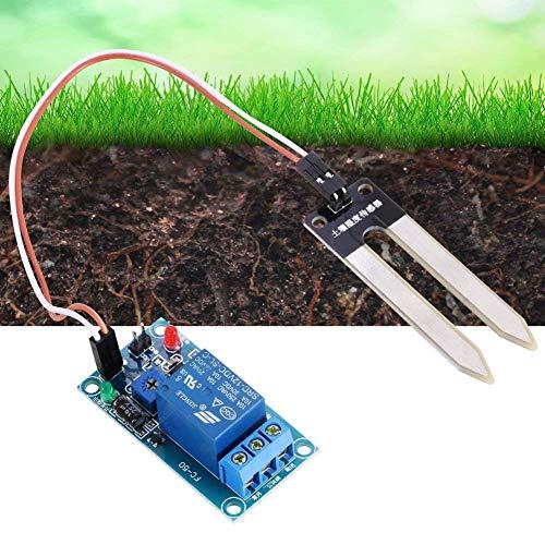 Hilitand Bodenfeuchtesensor DC12V Bodenfeuchte Sensor Relais Steuermodul Automatische Bewässerung Schalter Boden-Tester