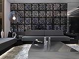 MYEUSSN Raumteiler Paravent Schwarz DIY Paravents Raumtrenner Sichtschutz Umweltfreundlichem Trennwand Haus Deko für Wohnzimmer Schlafzimmer Küche Esszimmer 12pcs(Schwarz-Unregelmäßige Geometrie)