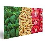 Bild auf Leinwand Italienisches Essen mit Hintergrund -