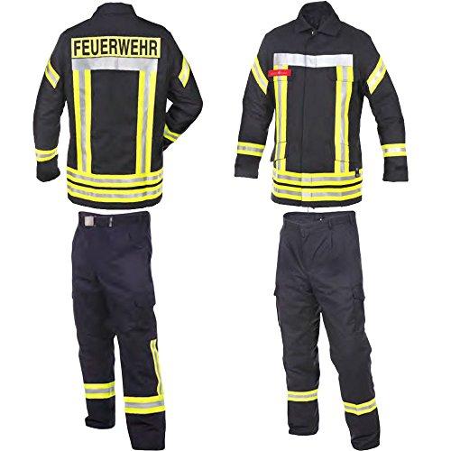 Novotex Feuerwehr-Bundhose nach HuPF Teil 2 mit Reflex nach DGUV-Empfehlung (wie Überhosen) und Gürtel Gr. 46