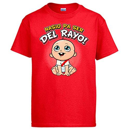 Diver Camisetas Camiseta Nacido para ser del Rayo Vallecano fútbol - Rojo, 3-4 años