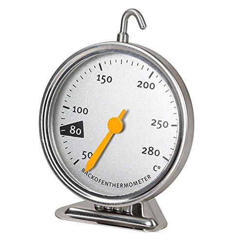 Herramienta de horneado de horno de termómetro mecánico de horno de acero inoxidable con gancho colgante 50-280 grados Celsius