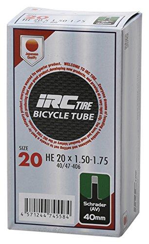 IRC BICYCLE TUBE 20X1.50-1.75 米式40mmバルブ 29792J