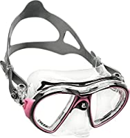 Cressi スキューバ シュノーケリング マスク [ AIR CRYSTAL ] クリスタルシリコン 特許技術デザイン 【正規品】 ブラック/ピンク DS400040