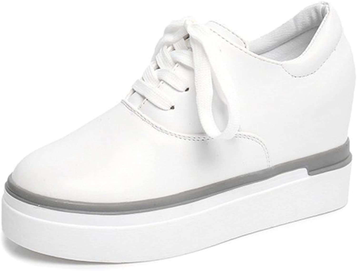 Autumn shoes Platform with Small White shoes Female Students ' Arts and Leisure shoes end of Platform high shoes