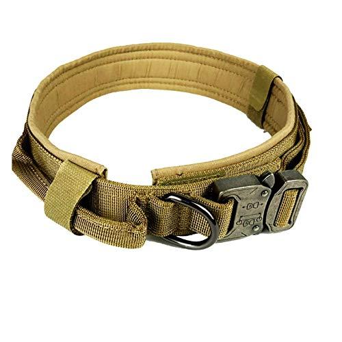 TITST Collar táctico para Perros, Collares de Entrenamiento Ajustables para Exteriores para Perros Militares medianos Grandes, Collares cómodos y livianos para Mascotas M-XL13-24' A-L