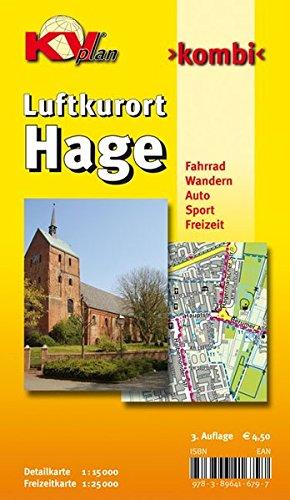 Hage: 1:15.000 Samtgemeindekarte mit Freizeitkarte 1:25.000 inkl. Radrouten und Wanderwegen