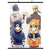 Christ For Givek Naruto Póster Tela Rollo Pared Pintar Naruto Anime Personaje Uchiha Itachi Sasuke Colgante de Pared Eje Ornamento