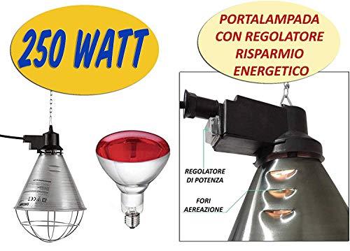 Lámpara de calor y bombilla 250 W