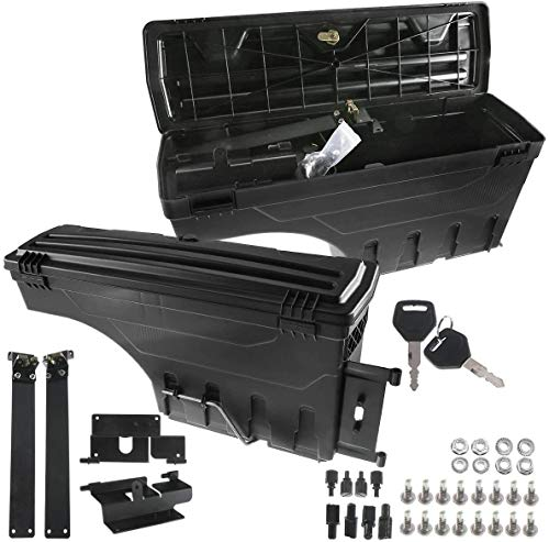 A-Premium Truck Bed Storage Tool Box Compatible with Toyota Tacoma 2005-2020 Rear Side 2-PC