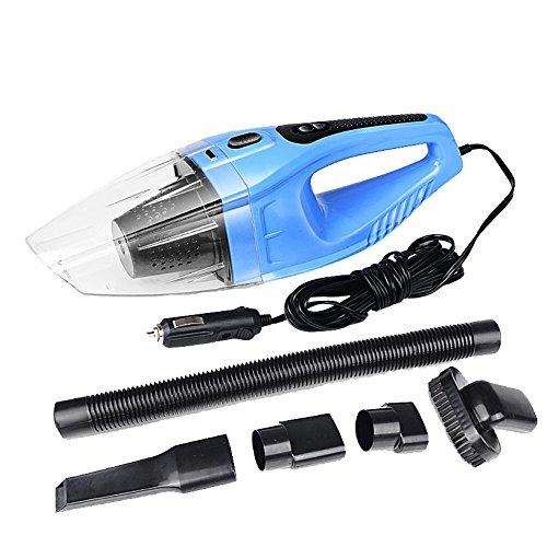 LLZXCQ Aspirateur De Voiture/120W Portable Aspirateur De Voiture Humide Et Sec Double Usage Voiture Allume-Cigare Filtre Hepa 12V Couleur Bleue, Un Bleu