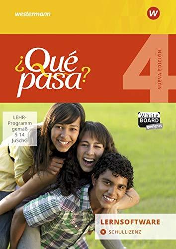 ¿Qué pasa? - Ausgabe 2016: Lernsoftware 4: Schullizenz: Lehrwerk für Spanisch als 2. Fremdsprache ab Klasse 6 oder 7 - Ausgabe 2016 / Lernsoftware 4: ... ab Klasse 6 oder 7 - Ausgabe 2016)