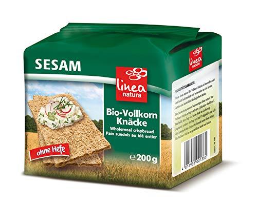 Linea Natura Bio Sesam Vollkorn Knäcke, 5er Pack (5 x 200 g)