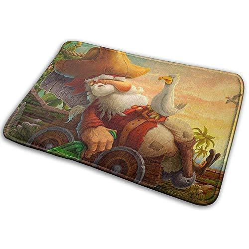 Kevin-Shop Lustige Bettler Piraten Weihnachtsmann Deko Teppiche Bodenteppich Wohn- & Schlafzimmerteppich Bedruckte Teppiche 19,5 'X 31,5'.