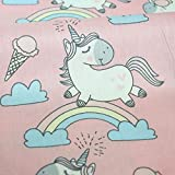 Tela de unicornios rosa por metros 1 unidad es 0.50 m. x 1.60 m .confeccion y...