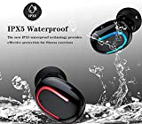 Wireless Earbuds Bluetooth 5.0 Headphones,Etrigger TWS In Ear Wireless Earphones with Mic Noise Cancelling IPX5 Waterproof Wireless Headsets Compatible with iPhone, Samsung, Huawei and Charging Case