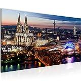 Bilder Köln Wandbild Vlies - Leinwand Bild XXL Format