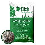 Elixir Gardens 25Kg FINE LAWN SAND WITH FERTILISER TREATS OVER 360SQM