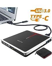 Unidad de DVD externa 5 en 1 CD NOLYTH USB3.0 CD Reproductor de DVD Grabador Grabador para computadora portátil / MacBook / Windows / PC con lector de tarjetas SD TF y 2 concentradores USB3.0