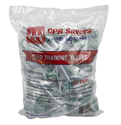 CPR Savers and First Aid Supply One-Way Disposable Training Valves for Micromask CPR Training (1)