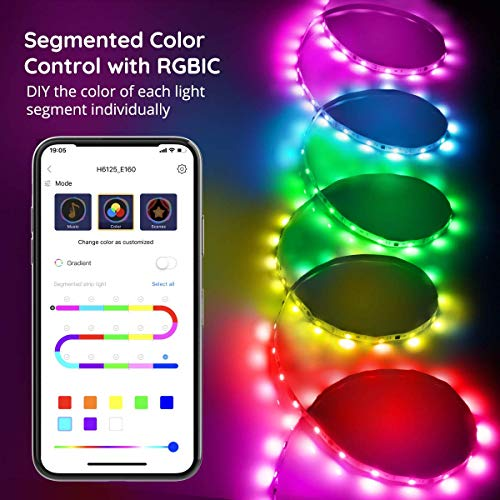 Govee Rgbic Led Strip Lights 16.4 Feet, App Control, for Bedroom, Kitchen, Room 7