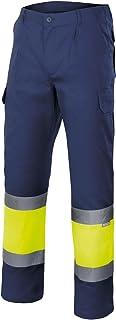 Velilla 157/C60/T3XL Pantalón de alta visibilidad, Azul marino y amarillo fluorescente, XXXL