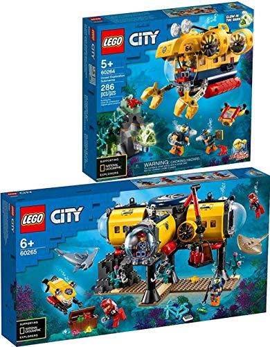 Bundle Lego® Friends 2er Set 60264 60265 Meeresforschungs-U-Boot + Meeresforschungsbasis