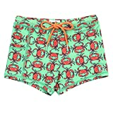 SwimZip Kids Euro Swim Shorties - UPF 50+ Swim Trunks - Crab -...