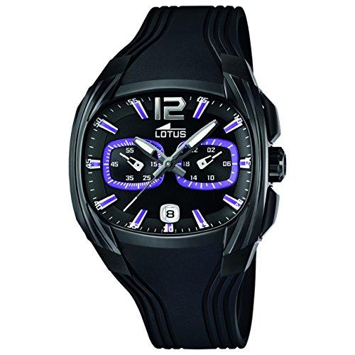 Lotus L15757-3 - Reloj para Hombres, Correa de Goma Color Negro