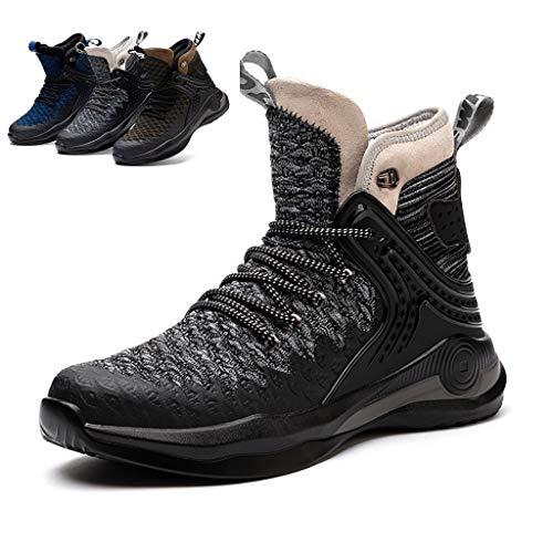 Zapatos de seguridad 2020 otoño invierno de los hombres del Alto-top zapatos de seguridad del dedo del pie ocasional de trabajo Formadores Mujeres suave y transpirable Industrial Sport zapatillas de d