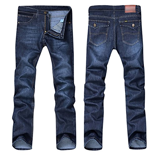 Kaniem Jean Pants,Mens Casual Comfy Regular Fit Denim Jeans Straight Trouser Pants for Teen (38, Blue)