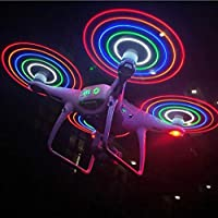 Taoric DJI phantom 4/4Pro/4Pro 対応 プロペラ LED 五色照らされたかい クイックリリースプロペラ (2ペア)