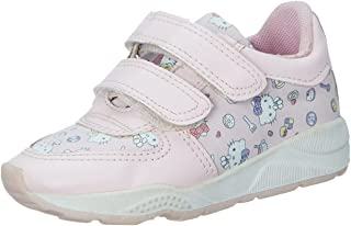 Skippy Kitty Print Velcro Closure Sneakers for Girls