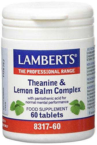 Lamberts L Teanina con Balsamo de Limon, Blanco, 60 Unidades