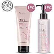 The Face Shop [Total 2Pcs] Rice Water Bright Cleansing Oil + Foam SET