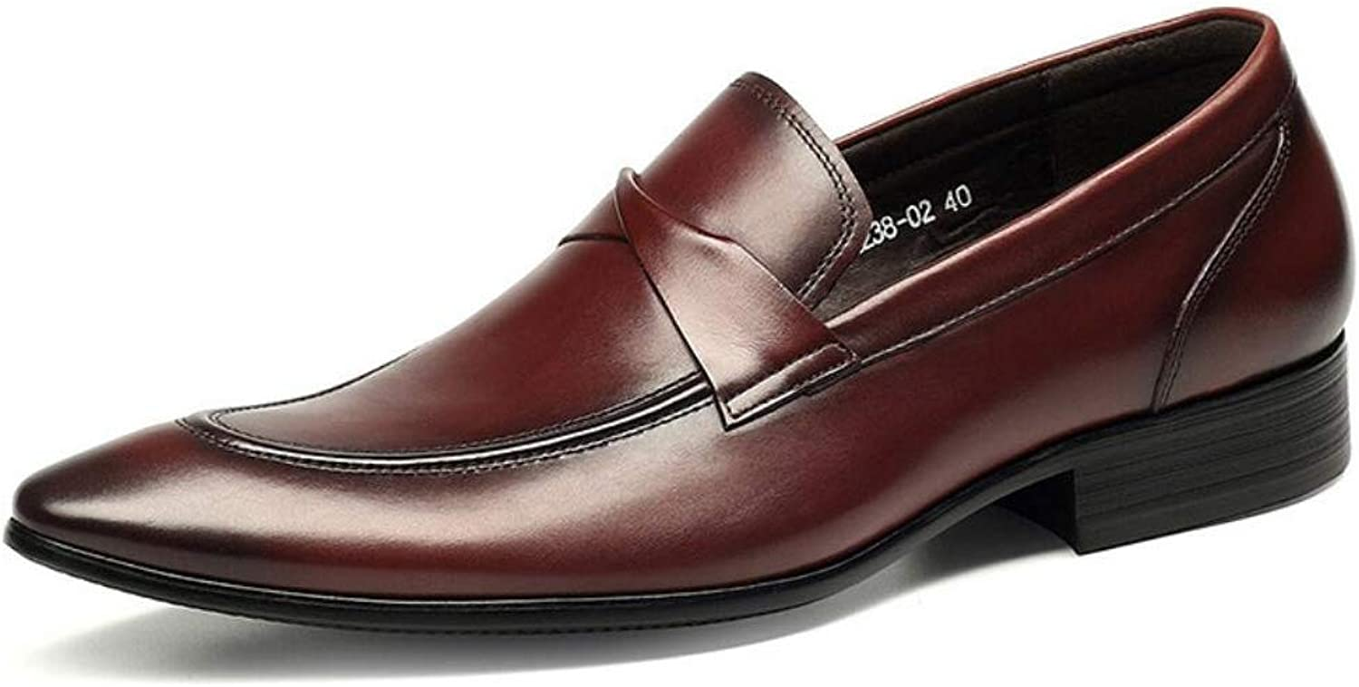 Summer New Dress shoes,Leather Business shoes, Slip-ONS Fashion Wedding shoes, Comfort Pointed Toe,Fancy Dress Party & Evening