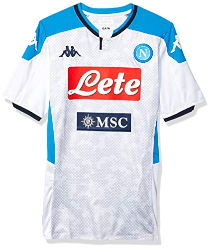 Ssc Napoli Italian Serie A Men's Third Match Shirt, White, M
