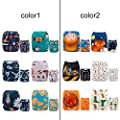 ALVABABY Baby Cloth Diapers One Size Adjustable Washable Reusable for Baby Girls and Boys 6 Pack with 12 Inserts 6DM59 ?Send Randomly?