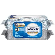 Cottonelle Flushable Wet Wipes, 84 Wipes per Pack, 1 pack, For Adults and Kids, Alcohol Free, Sewer Safe, Septic Safe
