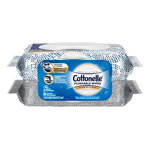 Cottonelle Fresh Care Flushable Cleansing Cloths Refill, 42 Count (Pack of 2)