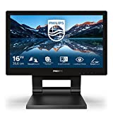 Philips 162B9T - Monitor touch da 39 cm (15,6 pollici), VGA, HDMI, DVI, Hub USB, DisplayPort, Full HD, multitouch capacitivo a 10 punti, colore: Nero