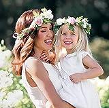 Simsly Bandeaux floral style bohème pour mère et bébé