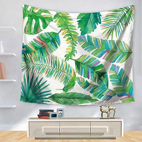 XINYU Hojas verdes de plantas tropicales Serie de impresión digital del hogar tapiz colgante pared decoración alfombra paseo, Gt1131-2, 75*90