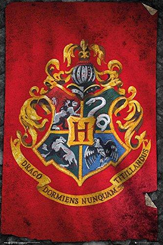 Harry Potter Poster Drapeau des Poudlard (61cm x 91,5cm) + Un Poster Bora Bora en Cadeau!