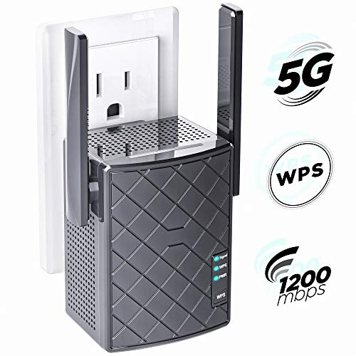 WiFi Extender- WiFi Range Extender Up to 1200Mbps, WiFi Signal Booster, 2.4 & 5GHz Dual Band